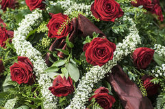 Arrangement with red roses Stock Image