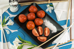 Arrangement of red tomato Stock Photo