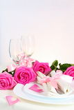 Arrangement for Romantic Dinner Vertical Royalty Free Stock Images