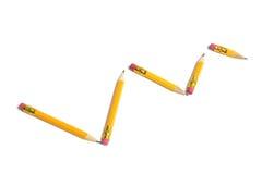Arrangement of Short Pencils Royalty Free Stock Photos