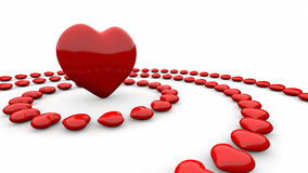 Red heart-shapes Royalty Free Stock Photo