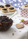 Arrangement of traditional Christmas mincemeat Stock Image