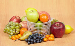 Arrangement of variety of different fruits Royalty Free Stock Photo
