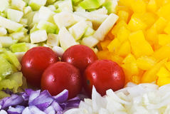 Arrangement of the vegetable Royalty Free Stock Photos