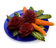 Arrangement of vegetables - carving Royalty Free Stock Images