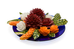 Arrangement of vegetables - carving Royalty Free Stock Photos