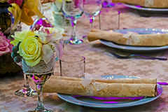 Arrangement for the wedding dinner party-14 Stock Photography
