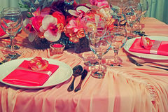 Arrangement for the wedding dinner party-15 Stock Image