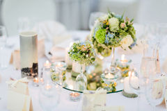 Arrangement of wedding table Royalty Free Stock Images