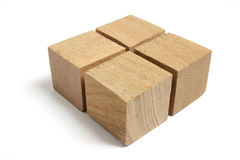 Arrangement of Wooden Blocks Royalty Free Stock Image