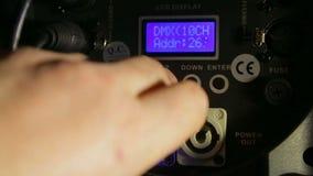 Arrangements du bloc d'éclairage de lampe de profil de travail banque de vidéos