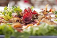 Arrangemet de la comida Foto de archivo libre de regalías