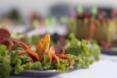 Arrangemet de la comida Fotos de archivo libres de regalías