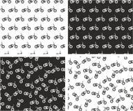 Arrangera i rak linje & slumpmässig sömlös modelluppsättning för Bmx cykel Royaltyfria Bilder