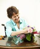 Arranging A Floral Bouquet Stock Images