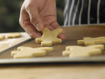 Arranging cookies Royalty Free Stock Photography