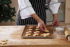 Arranging cookies Royalty Free Stock Image