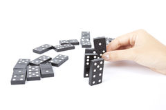 Arranging domino stock photos