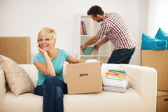 Arranging a new apartment royalty free stock images