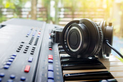 Arranging a new song . Royalty Free Stock Photos