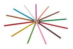 Arrangment μολυβιών χρώματος Στοκ Εικόνες
