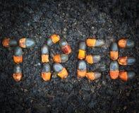 Arrangment των σπόρων xylocarpa Afzelia Στοκ Εικόνες