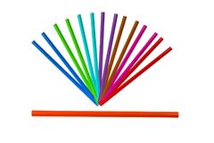 Arrangment of colorful pencil on white backgroun isolate. The arrangment of colorful pencil on white backgroun isolate Stock Images