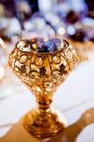 Arrangment della tavola del parfume di nozze Immagine Stock