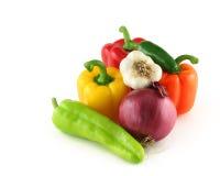 Arrangment des légumes Photographie stock