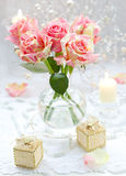 Arrangment Of Pink Roses Royalty Free Stock Image