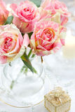 Arrangment Of Pink Roses Stock Photography