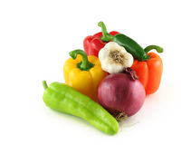 Arrangment van groenten Stock Fotografie