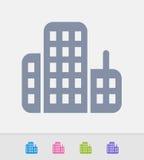 Arranha-céus - ícones do granito ilustração stock