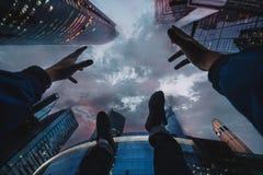 Arranha-céus acima de você Fotos de Stock Royalty Free