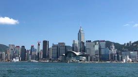 Arranha-céus ao longo de Victoria Harbor em Hong Kong Fotografia de Stock Royalty Free