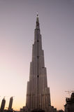 Arranha-céus Burj Dubai Foto de Stock Royalty Free