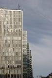 Arranha-céus cinzentos Fotografia de Stock