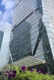 Arranha-céus com jardim Imagem de Stock Royalty Free