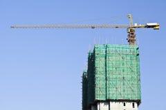 Arranha-céus contra um céu azul no centro do Pequim, China Imagens de Stock Royalty Free