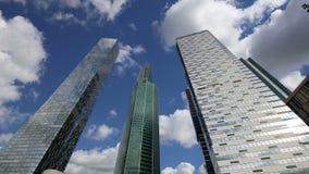 Arranha-céus da cidade internacional do centro de negócios, Moscou, Rússia filme