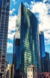 Arranha-céus da movimentação de Wacker Fotografia de Stock