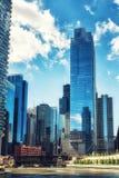 Arranha-céus da movimentação de Wacker Imagem de Stock Royalty Free