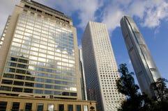 Arranha-céus da skyline do centro da casa IFC Hong Kong Admirlty Central Financial de Jardine Foto de Stock