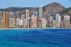 Arranha-céus de Benidorm, Costa Blanca, Espanha imagens de stock royalty free