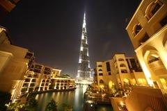 Arranha-céus de Burj Dubai e opinião geral dos edifícios Imagens de Stock