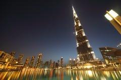 Arranha-céus de Burj Dubai e outros edifícios Imagens de Stock Royalty Free
