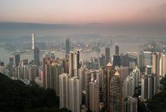 Arranha-céus de Hong Kong em China, Ásia Imagem de Stock
