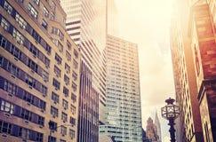 Arranha-céus de Manhattan, NYC, EUA Foto de Stock Royalty Free
