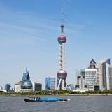 Arranha-céus de Shanghai Lujiazui CBD Foto de Stock