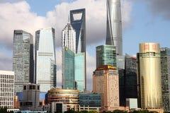 Arranha-céus de Shanghai Lujiazui CBD Fotos de Stock Royalty Free